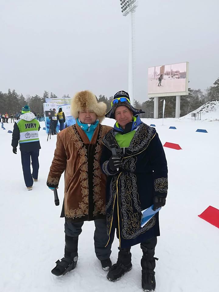 Наурыз. Чемпиона Казахстана по лыжным гонкам. Кисляков Евгений Алексеевич
