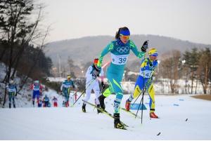 скиатлон на Олимпийских играх 2018. Валерия Тюленева